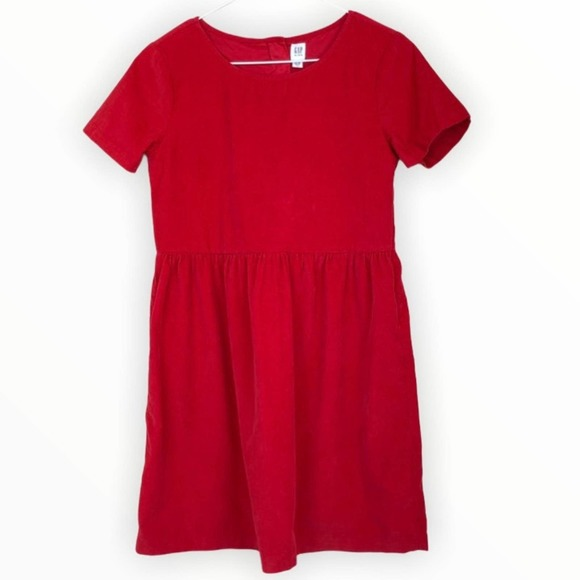 GAP Kids Fit & Flare Corduroy Dress Red XXL 14 16